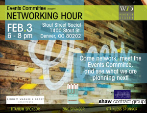 Events Committee Networking Hour Feb. 3, 2015
